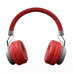 Gizmore Bluetooth V5.0 Headphone Over The Head Style with Precision Bass (Red)