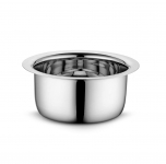 Profusion Stainless Steel Tope/patila/bhagona- (Silver, 1 PC- Capacity- 0.8 Litre)