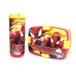 Cello Spiderman Combo Plastic Lunch Box Set, 2-Pieces, Yellow/Red