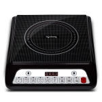 Lifelong Inferno LLIC30 2000 Watt Induction Cooktop for Home with 7 Preset Indian Menu Option and Auto-Shut Off | Easy Cooking, 1 Year Warranty (Grey)