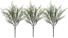 Fourwalls Artificial Plastic Bamboo Bushes (46 cm, Green/White)